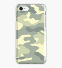 Camo light khaki iPhone Case/Skin