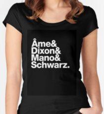 Ame & Dixon & Mano & Schwarz. Women's Fitted Scoop T-Shirt