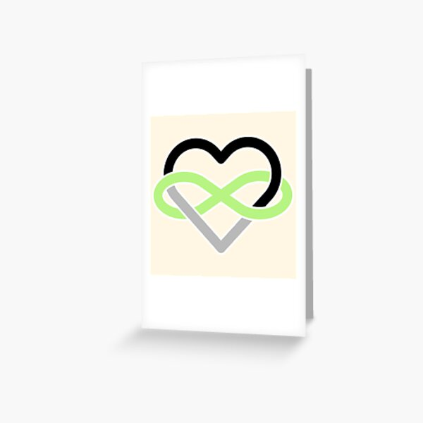 Agender Polyamory Infinity Heart Greeting Card