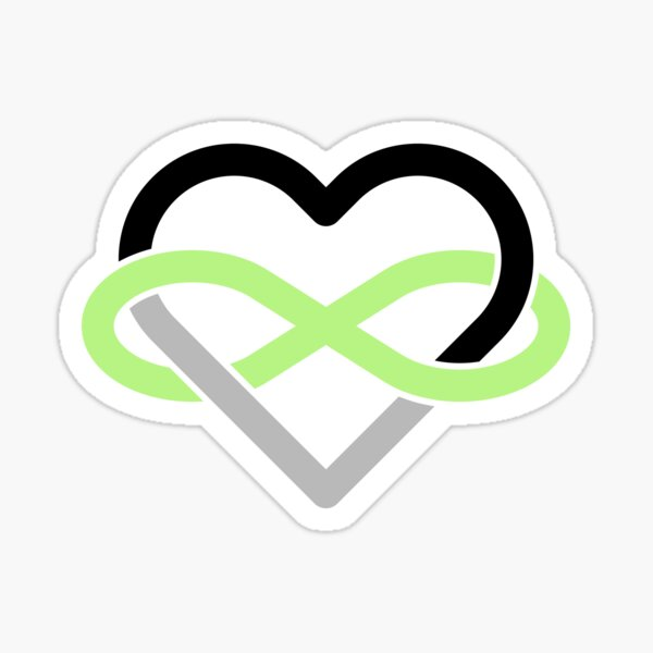 Agender Polyamory Infinity Heart Sticker