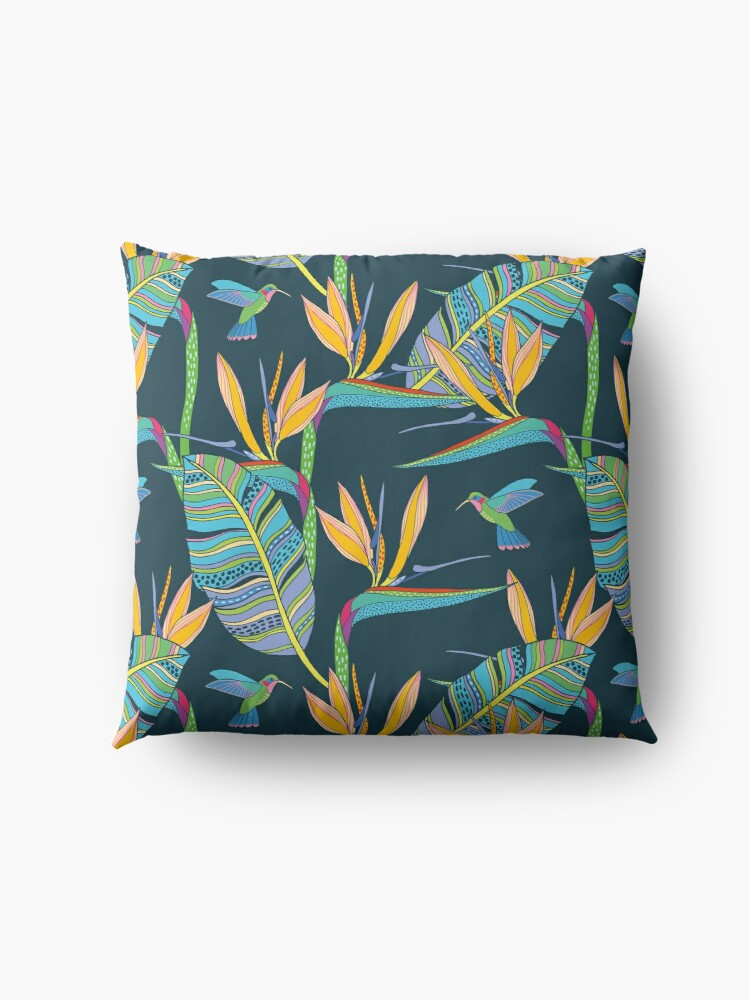 Alternate view of Bohemian Birds of Paradise Floor Pillow