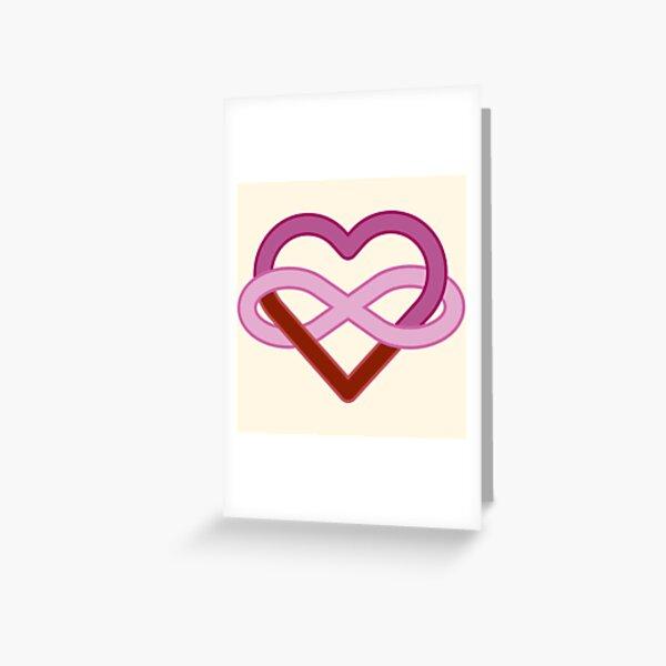 Lesbian Polyamory Infinity Heart Greeting Card
