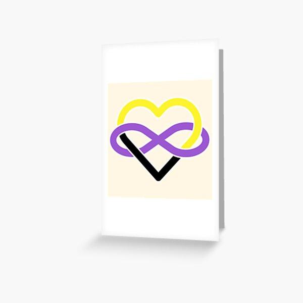 Nonbinary Polyamory Infinity Heart Greeting Card