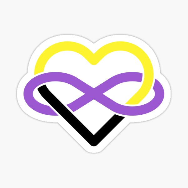 Nonbinary Polyamory Infinity Heart Sticker