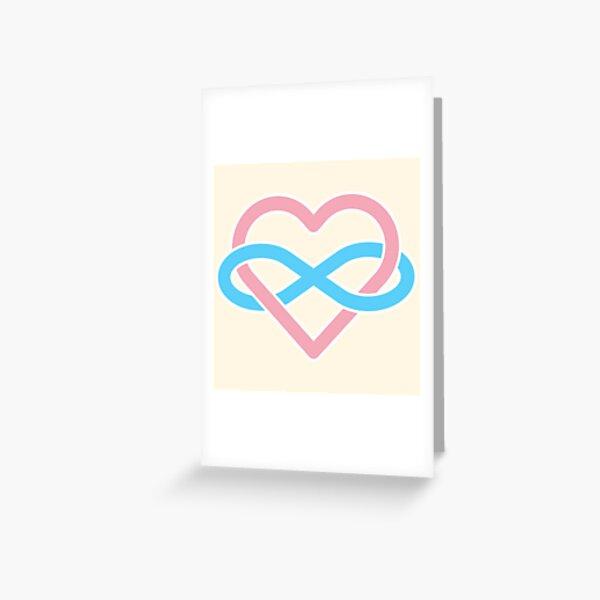 Transgender Polyamory Infinity Heart Greeting Card