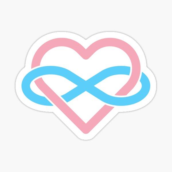 Transgender Polyamory Infinity Heart Sticker