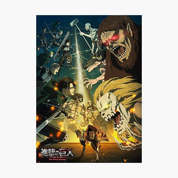 Attack On Titan The Final Season 4 Poster Photographic Print