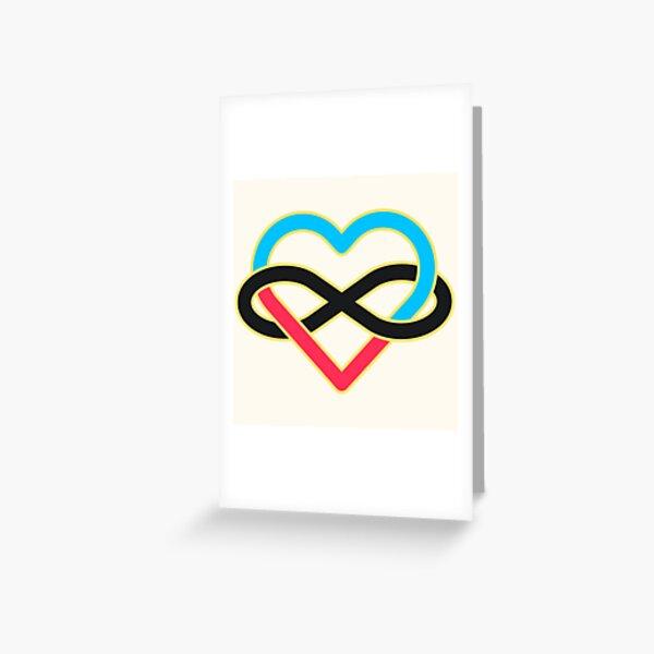 Polyamory Infinity Heart Greeting Card