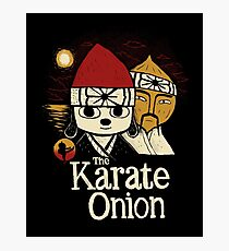 the karate onion Photographic Print