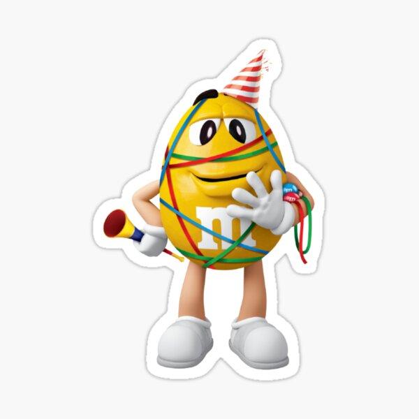 m & m's amarillo, celebración Pegatina