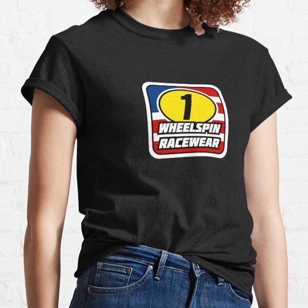 WheelSpin Racewear Red-Wht-Blue Logo Classic T-Shirt