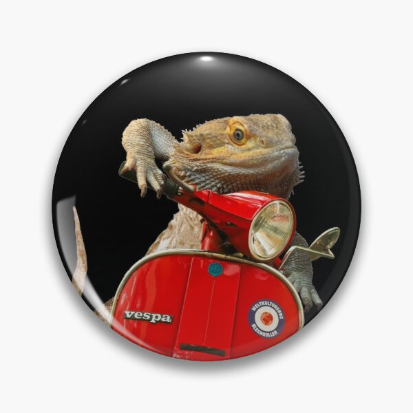 Born To Be Wild - Bearded Dragon On A Vespa Pin
