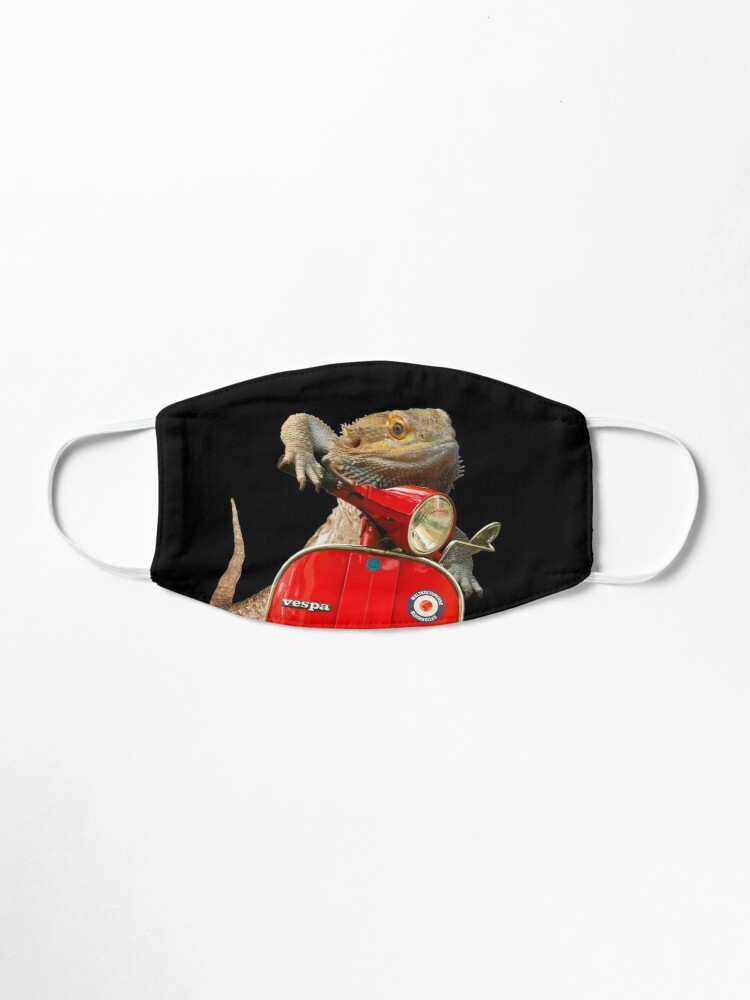 Alternate view of Born To Be Wild - Bearded Dragon On A Vespa Mask