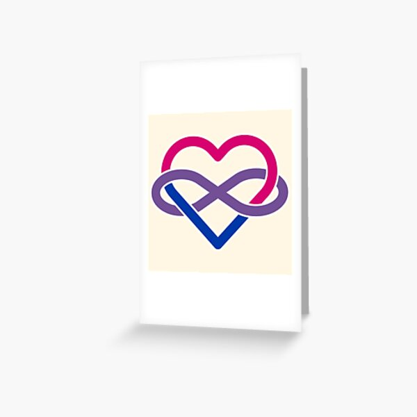 Bisexual Polyamory Infinity Heart Greeting Card