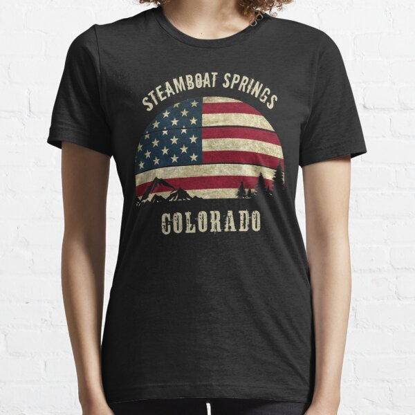 Get High in Colorado Retro State Flag Mountains Graphic Sweatshirt