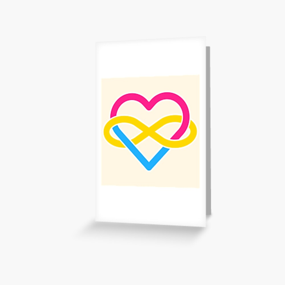 Pansexual Polyamory Infinity Heart Greeting Card