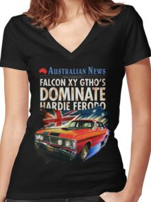 Ford Falcon XY GTHO Phase III (nostalgic) © Women's Fitted V-Neck T-Shirt