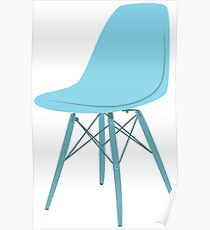 Ray & Charles Eames Side Chair Classic Design Poster