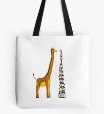 Who is Taller Unicorn Giraffe or Penguin? Tote Bag