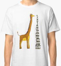 Who is Taller Unicorn Giraffe or Penguin? Classic T-Shirt