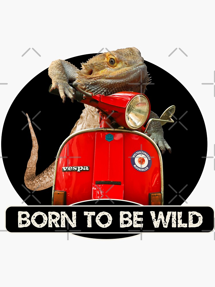 Born To Be Wild - Bearded Dragon On A Vespa by snibbo71