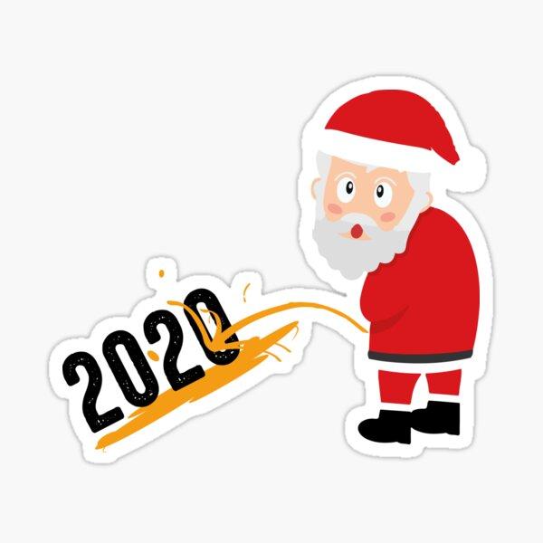 Santa orinando en 2020 Pegatina
