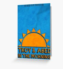 Community - Troy and Abed in the morning Greeting Card