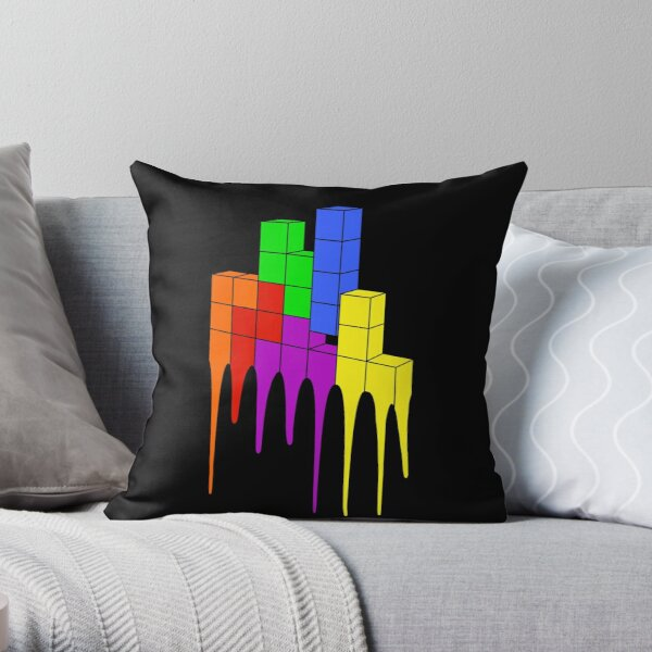 Tetris Melt Throw Pillow