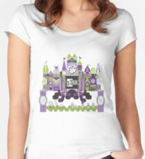 Is This Small World Actually Stretching? Women's Fitted Scoop T-Shirt