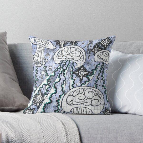 Cosmic Jellies Throw Pillow