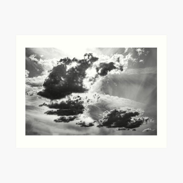 Dramatic cloud formation over Trans Canada Highway Art Print