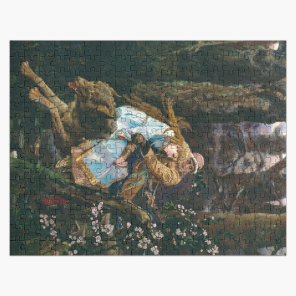 Ivan Tsarevich Riding the Grey Wolf Viktor Vasnetsov Jigsaw Puzzle