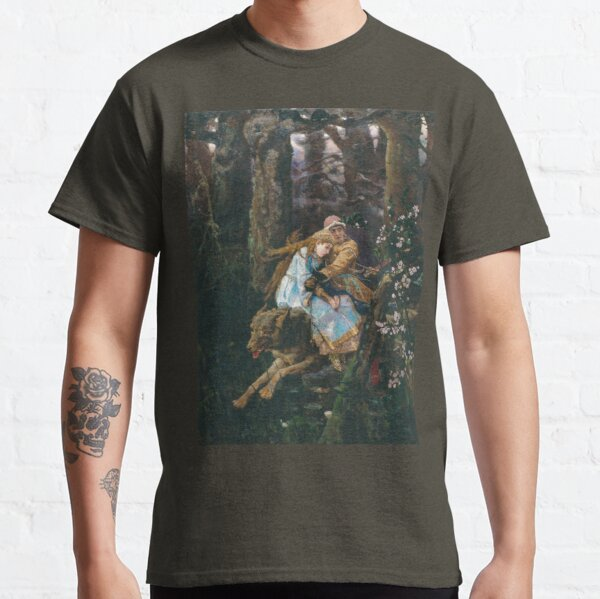 Ivan Tsarevich Riding the Grey Wolf Viktor Vasnetsov Classic T-Shirt
