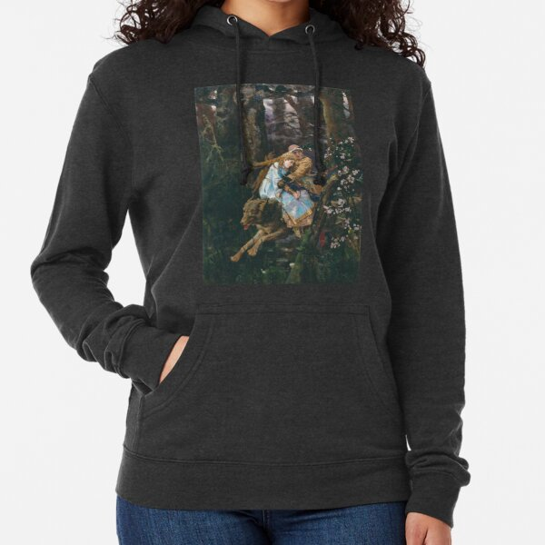 Ivan Tsarevich Riding the Grey Wolf Viktor Vasnetsov Lightweight Hoodie