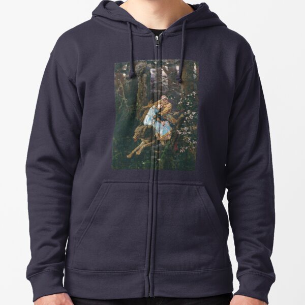 Ivan Tsarevich Riding the Grey Wolf Viktor Vasnetsov Zipped Hoodie