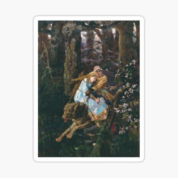 Ivan Tsarevich Riding the Grey Wolf Viktor Vasnetsov Sticker