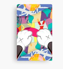 kaws paws 2 mickey   Canvas Print