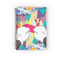 kaws paws 2 mickey   Spiral Notebook