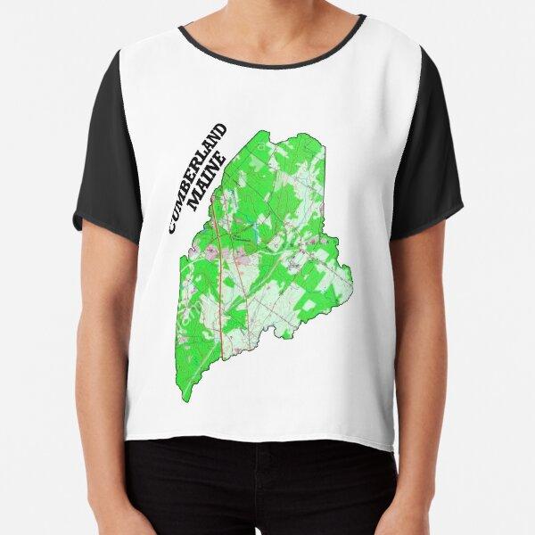 Cumberland Maine, est 1821 Chiffon Top
