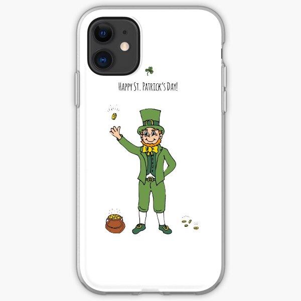 Leprechaun, Happy St. Patrick's Day! iPhone Soft Case