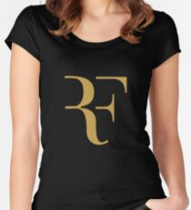 Roger Federer gold Women's Fitted Scoop T-Shirt