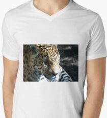 Focused Feline Men's V-Neck T-Shirt