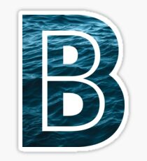 "The Letter ""B"" Ocean Sticker"