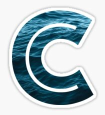 "The Letter ""C"" Ocean Sticker"