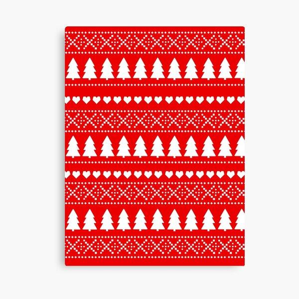 Christmas Fairisle Print Canvas Print