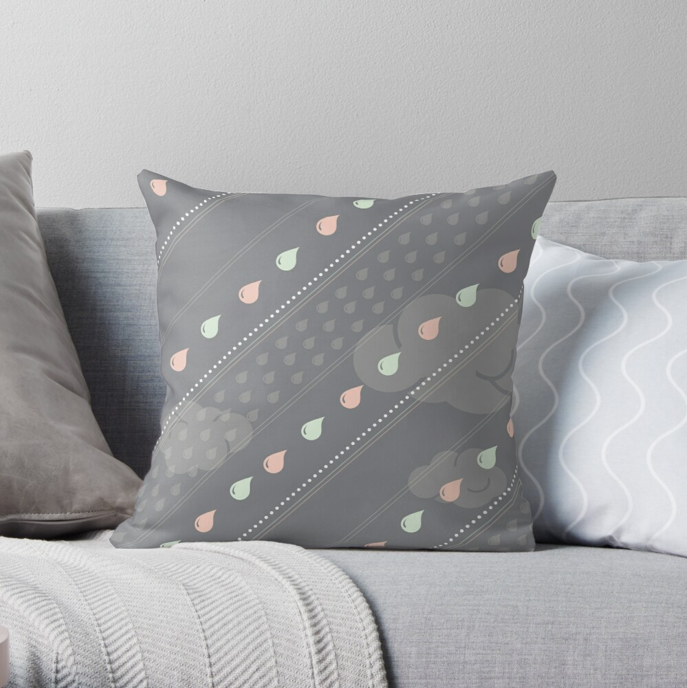 Confetti Rain Throw Pillow