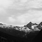 He Can Move Mountains - B&W by klcblair