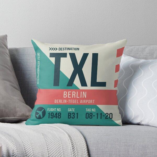 Berlin Tegel Airport Stylish Luggage Tag (TXL) Throw Pillow