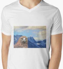 Inaccessible Pinnacle, Golden Eagle, Skye V-Neck T-Shirt