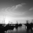 Steveston Harbour - B&W by klcblair